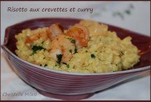 Risotto crevettes curry
