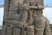 Sandkunst / Kunst med sand, duh!