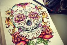 Sugar skull illstrations
