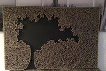 fil tendu / string art
