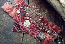 šité náramky-textil