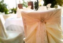beautiful chairs..... / Chairs adorned with flowers, ribbon and pearls the perfect way to complete a vintage wedding
