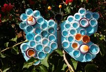 Plastic Bottle Kids Craft / Don't toss those plastic bottles in the garbage. Turn them into a fun kids craft projects –Make animal wall art, wind spinners & more