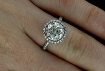Moissanite Jewelry / Moissanite hand cut, near colorless jewels have the incomparable sparkle and fire that only a carefully crafted stone of such rare, brilliant quality can offer. / by Allurez