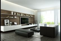 wood wall furniture tv