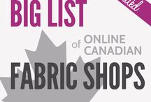 Quilting fabric - Canadian