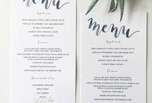 wedding. menus