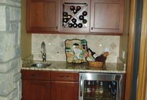 Dublin Traditional Kitchen / This Dublin kitchen was remodeled in a traditional style with red oak floors, cherry cabinets and light, cream countertops and tile.