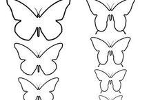 Moldes de mariposas