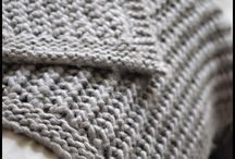 Knitted blankets, pillows and things