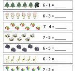 Preschool Math Printables / Fun worksheets for practicing beginner math skills