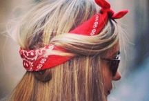 How to Wear A Bandana / There are heaps of ways to tie a Bandana. Here are some