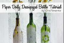 Wine bottle uses / Things you can do with empty wine bottles.  How to cut them and even candles.