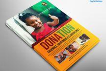 Flyer donation / Des modèles d'exemple créée par Cool art vision