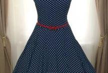 Retro šaty a sukně / Originální retro šaty a sukně šité na míru