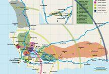 Wine maps./Wijn kaarten. / Wine maps on the world./Wijnkaarten van de wereld.