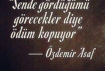 Özdemir Asaf Sözleri