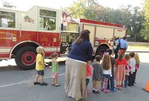Firefighters Visit the Pre-K Students  / Augusta Prep's Pre-Kindergarten students heard from two special guest firefighters on Thursday, complete with a tour of a fire truck.  The Columbia County firefighters spoke to students about fire safety and showed them the many tools on their truck.  Students also got the chance to hop up into the fire truck for a brief moment.