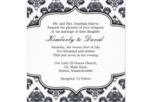 black and white damask wedding invitations / black and white damask wedding invitations