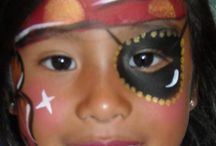 Pirate Facial Painting Baby Girl