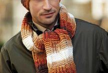 мужские шарфы и шапки