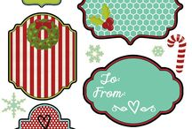 christmas printables and gift tags / by Kristen @DineandDish