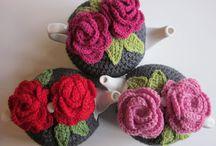 Crochet tea cosys