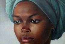 afrikansk kunst portrett