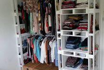 guarda roupas de palet