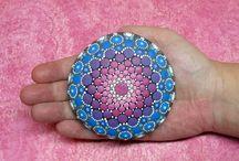 Mandala malede sten