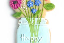 FOOD CRAFTS: Spring / Spring themed fun food and craft ideas for parties. Clever spring desserts (cookies, cupcakes, marshmallows, cake pops, and more)