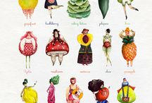 Fruit and plant dresses
