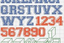 Cross stitch alphabets / In this board you can find cross stitch alphabets from site http://www.crossstitchcrochetothers.com/