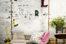 industrial /rustic decorating style