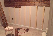 Pallet wood bedroom
