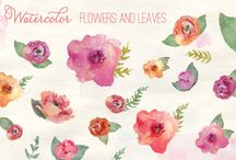 Watercolor Inspiration / Watercolor Florals and Design. Wreaths and Frames / by Joanna Thorp