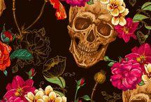 Caveira de flor