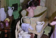 Pikkutyttö / 1:12 Porcelain doll by Taru Astikainen