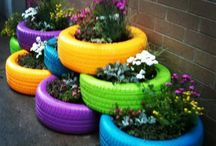 Pallets, Tyres as Planters