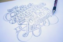 sketch, lettering, calligraphy