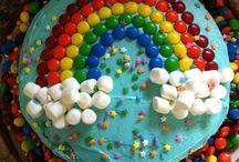 rainbow unicorn mermaid cakes