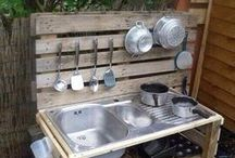 mud kitchen and garden stuff for kids