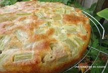 gâteau à la rhubarbe et mascarpone