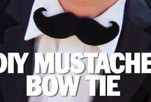 All about mustache necktie