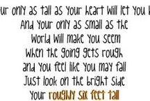 song lyrics i love  / by Julie Rebecca