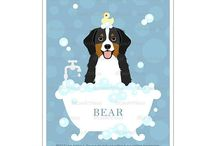 Lee Arthaus Bernese Mountain Dog Prints