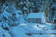 Havas téli tájak