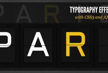 HTML Typography & Text effects
