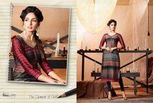 Georgette Kurtis / Apricot Georgette dark fantasy Kurtis eternal beauty, Indian Party wear