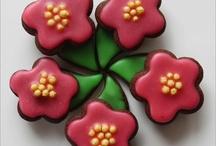 Kwiaty ciastka